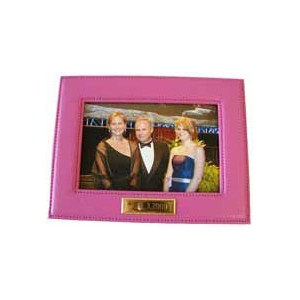 Leather Picture Frame - Pink
