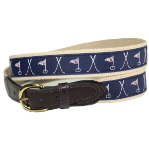 Crossed Flags - Clubs Golf Belt