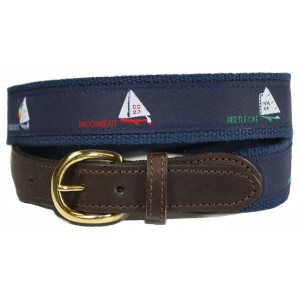 Three Sail Boat Nautical - Sport Belt