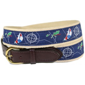 Sail & Ship with Compass Chart Nautical Belt