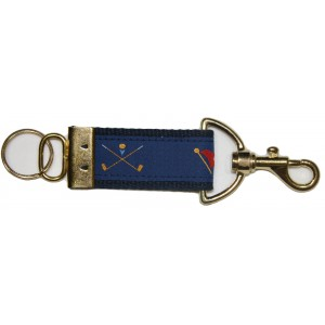 Golf Crossed Clubs - Flags Key Strap