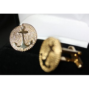 Gold Plated Cuff Link Set