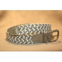 Strech Braid - White-Tan Belt