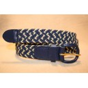 Strech Braid - White-Navy Combo Belt