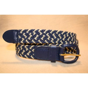 Stretch Braid - Navy/Tan Combo Belt