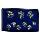24K Gold Plated Solid Brass Blazer Buttons