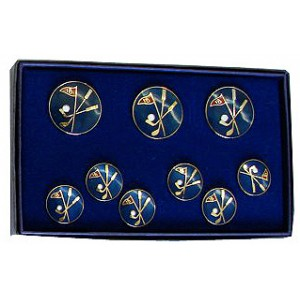 cloisonne enamel button set