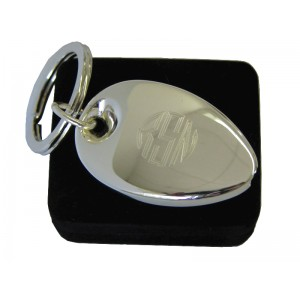 Engraved Silver Key Ring