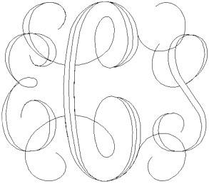 Interlocking Script Font